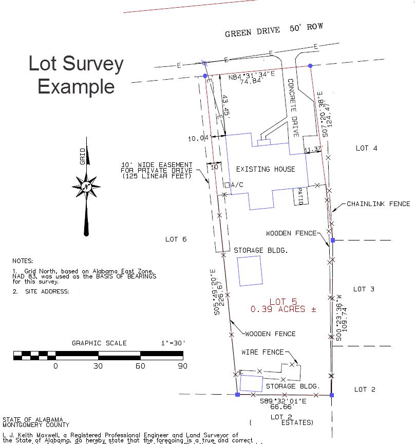 Lot Survey - Mortgage Survey - Closing Survey Chattanooga Land Surveying